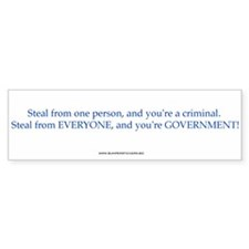 Steal from one person...bumper sticker