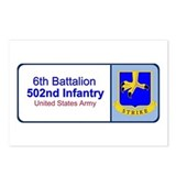 6th Battalion 502nd Infantry Postcards (Package of