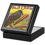 Old Crow vintage label Keepsake Box