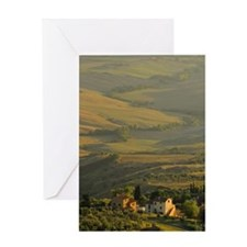 Tuscany at sunset Greeting Card