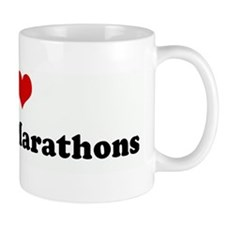 I Love Running Marathons Mug