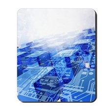 Cloud computing, conceptual artwork Mousepad