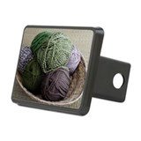 Basket of yarn Rectangular Hitch Cover