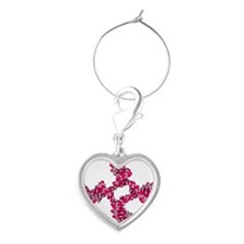 DNA Holliday junction, molecular  Heart Wine Charm