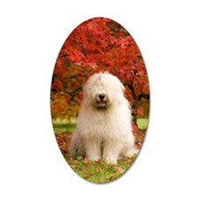 English Sheepdog acer tree Wall Decal