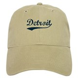 Detroit Script Distressed Cap