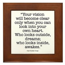 Vision by Carl Jung Framed Tile