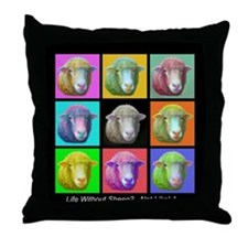 Throw Pillow - Sheep Pop Art