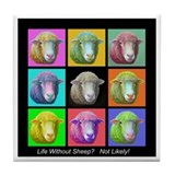 Tile Coaster~Sheep Pop Art