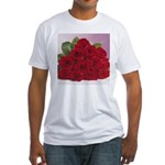 Red Rose Bouquet Fitted T-Shirt