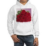 Red Rose Bouquet Hooded Sweatshirt