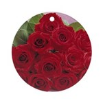 Red Rose Bouquet Ornament (Round)