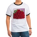 Red Rose Bouquet Ringer T