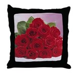 Red Rose Bouquet Throw Pillow