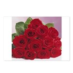 Red Rose Bouquet Postcards (Package of 8)