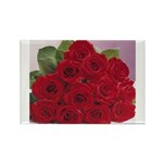 Red Rose Bouquet Rectangle Magnet (10 pack)