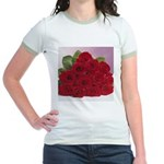 Red Rose Bouquet Jr. Ringer T-Shirt