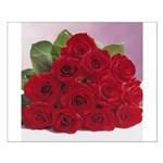 Red Rose Bouquet Small Poster