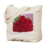 Red Rose Bouquet Tote Bag