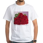 Red Rose Bouquet White T-Shirt