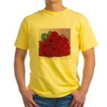 Red Rose Bouquet Yellow T-Shirt