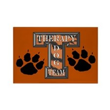 Therapy Dog Team Rectangle Magnet (100 pack)