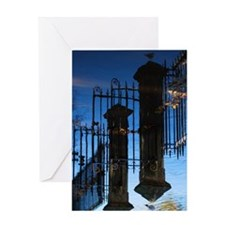 Mirror image of river Ouse in York f Greeting Card