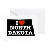 I Love North Dakota Greeting Cards (Pk of 10)