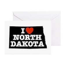 I Love North Dakota Greeting Cards (Pk of 10)