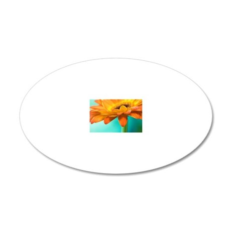 A vibrant yellow-orange gerb 20x12 Oval Wall Decal