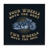 2 Wheels Move IV Tile Coaster