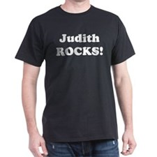 Judith Rocks! Black T-Shirt