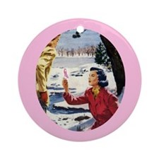 Sisters Share the Cure Ornament (Round)