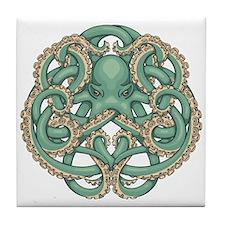 Octopus Emblem Tile Coaster