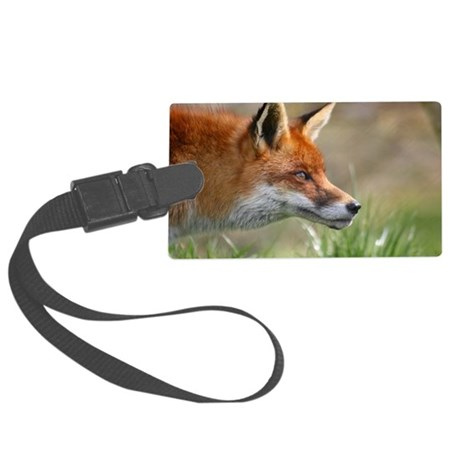 Red Fox Large Luggage Tag