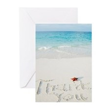 """Thank You"" writing on s Greeting Cards (Pk of 10)"