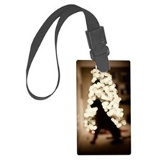 Christmas  with dog indoors Luggage Tag