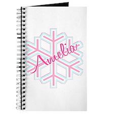 Snowflake Amelia Personalized Journal
