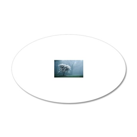 Cherry tree 20x12 Oval Wall Decal