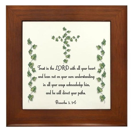 Proverbs Framed Tile
