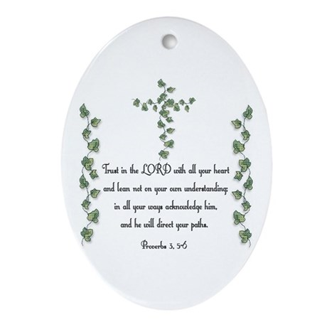 Proverbs Oval Ornament