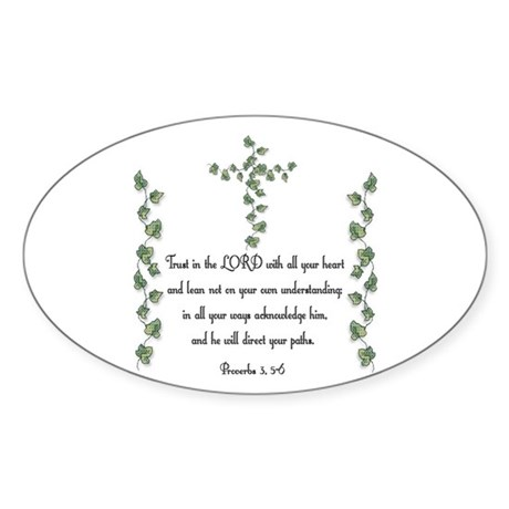 Proverbs Oval Sticker