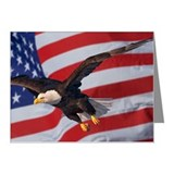 Eagle and flag Note Cards (Pk of 20)