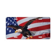 Eagle and flag Aluminum License Plate