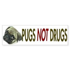 Pugs not Drugs Bumper Bumper Sticker