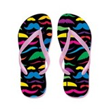 Mustach Color Pattern B Flip Flops