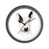 Bull Terrier Bust Wall Clock