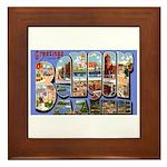 Bangor Maine Greetings Framed Tile
