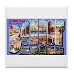 Bangor Maine Greetings Tile Coaster