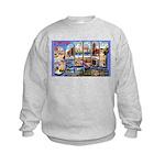 Bangor Maine Greetings (Front) Kids Sweatshirt